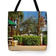 Quite Corner In Weston Florida Tote Bag