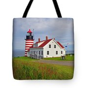 Quoddy Head Lighthouse Tote Bag
