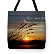 Quote5 Tote Bag