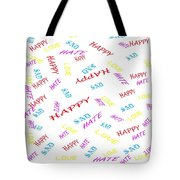 Quoted Emotions Tote Bag