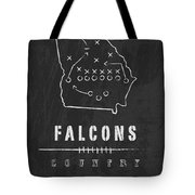 Atlanta Falcons Art - Nfl Football Wall Print Tote Bag