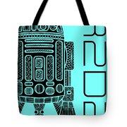 R2d2 - Star Wars Art - Blue Tote Bag
