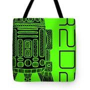 R2d2 - Star Wars Art - Green Tote Bag