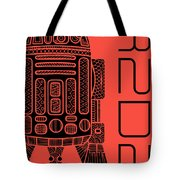 R2d2 - Star Wars Art - Red Tote Bag