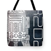 R2d2 - Star Wars Art - Space Tote Bag