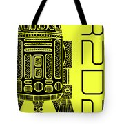 R2d2 - Star Wars Art - Yellow Tote Bag
