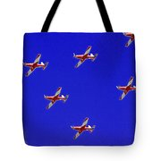 Raaf Roullettes Flying Across North Head Sydney Tote Bag