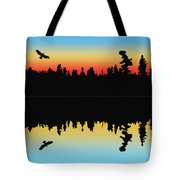 Rabbit Blanket Lake Tote Bag
