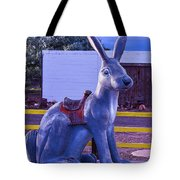Rabbit Ride Route 66 Tote Bag