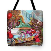 Rabbits Selling Ice Cream From A Hearse Tote Bag