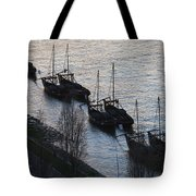 Rabelo Boats On Douro River In Portugal Tote Bag