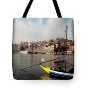 Rabelo Boats On River Douro In Porto 03 Tote Bag