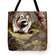 Raccoon Found Treasure  Tote Bag