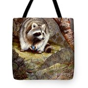 Raccoon Found Treasure  Tote Bag