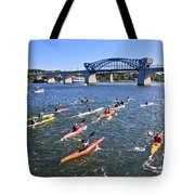 Race On The River Tote Bag