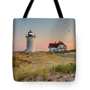 Race Point Light Cape Cod Square Tote Bag