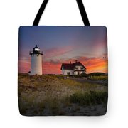 Race Point Light Sunset 2015 Tote Bag