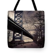 Race Street Pier Tote Bag by Katie Cupcakes
