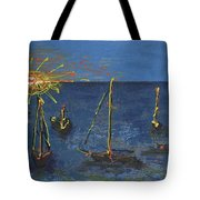 Raceday Sunrise Tote Bag