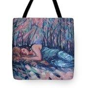 Rachel In The Sun-splattered Forest Tote Bag