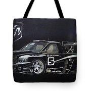 Racing Dodge Pickup Tote Bag
