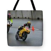 Racing In The Rain Tote Bag