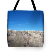Racing Over The Horizon Tote Bag
