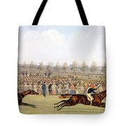 Racing Scene Tote Bag
