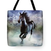 Racing The Storm Tote Bag
