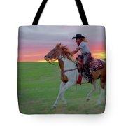 Racing The Sunset Tote Bag