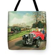 Racing The Train Tote Bag