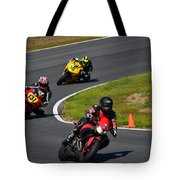 Racing Through Turn 11 Tote Bag