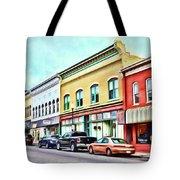 Radford Virginia - Along Main Street Tote Bag