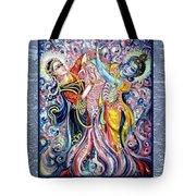 Radha Krishna - Cosmic Dance Tote Bag
