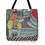 Radha Krishna Fish Tote Bag