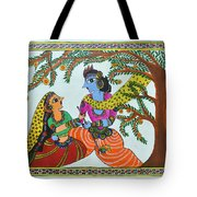 Radha Krishna  Tote Bag by Shruti Prasad