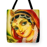 Radha - The Indian Love Goddess Tote Bag