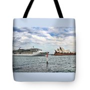 Radiance Of The Seas Passing Opera House Tote Bag
