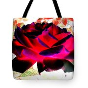 Radiant Red Rose Tote Bag