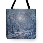 Radiant Snow Scene Tote Bag