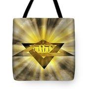Radiant Star Of David Tote Bag