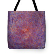 Radiation With Blue And Red  Tote Bag