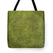 Radiation With Green With Yellow Tote Bag