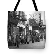 Radio Alley In New York Tote Bag
