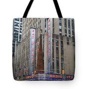Radio City Music Hall New York City Tote Bag