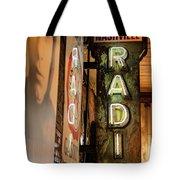 Radio Nashville Sign Tote Bag