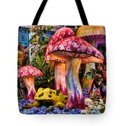 Radioactive Mushrooms Tote Bag