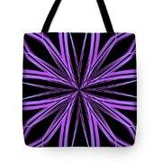 Radioactive Snowflake Purple Tote Bag