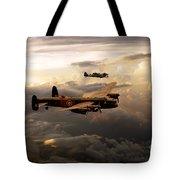 Raf Lancaster And Spitfire Tote Bag