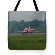 Raf Red Arrow Jet Lands Tote Bag